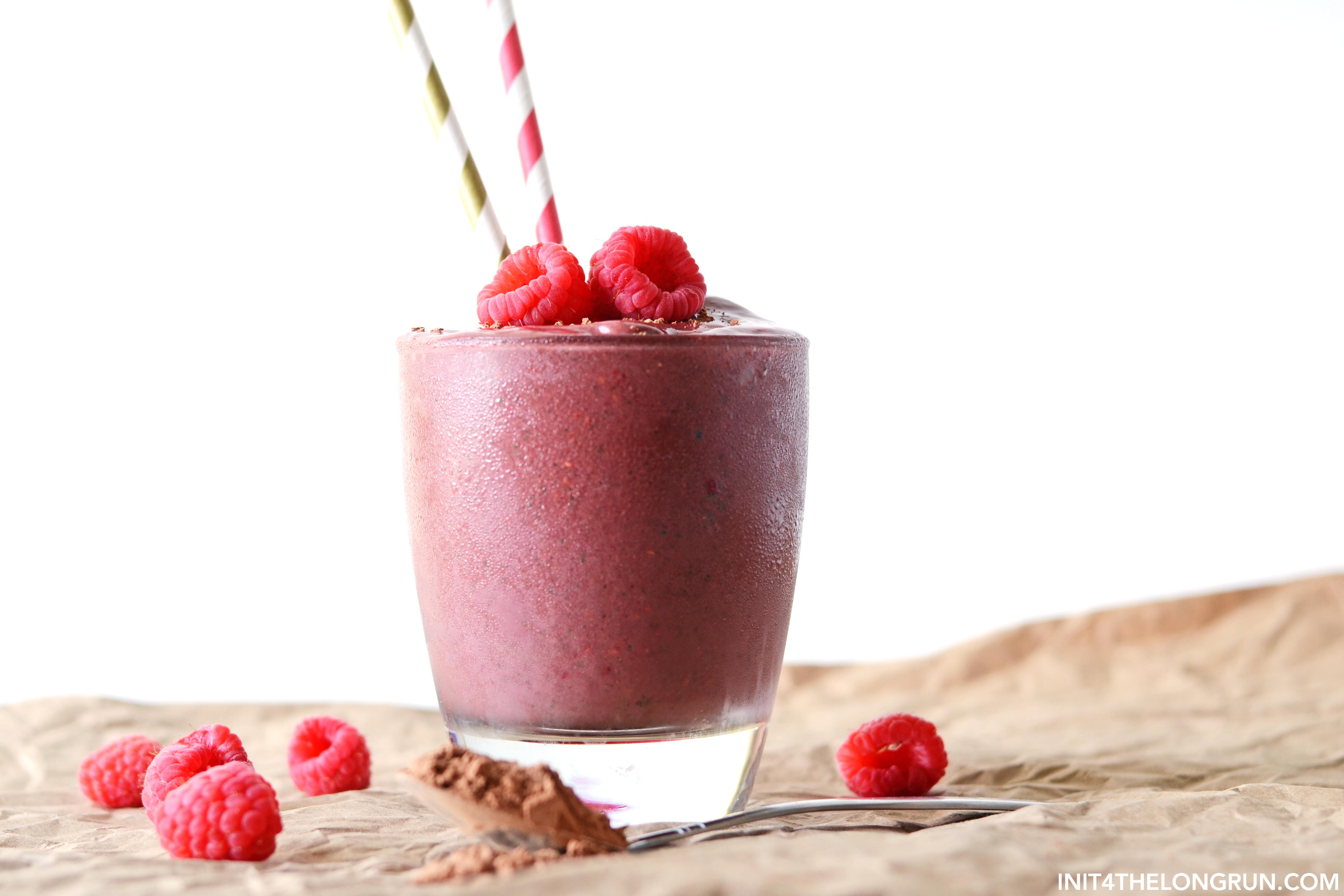 Raspberry Snow Cream Smoothie