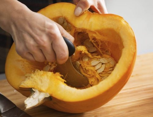 How to Cut Up a Pumpkin and Roast Seeds