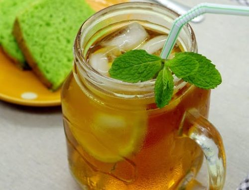 Homemade Mint Iced Tea